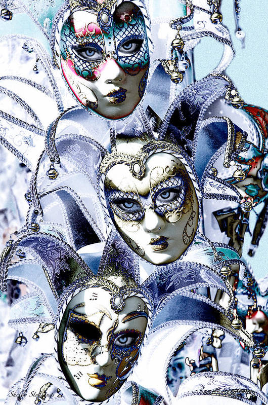 Mardis Gras Art Print featuring the photograph Masquerade by Shelly Stallings