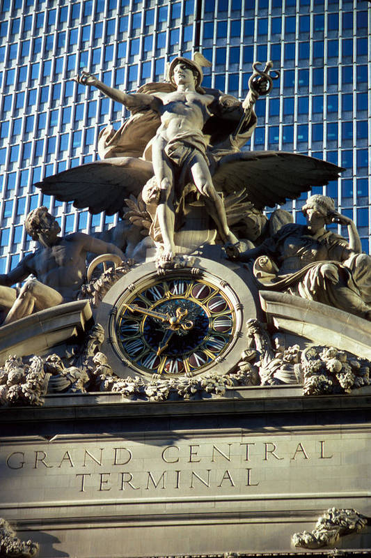 Delivery Art Print featuring the photograph Mercury At Grand Central by Carl Purcell