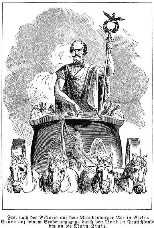 19th Century Art Print featuring the photograph Prince Otto Von Bismarck by Granger