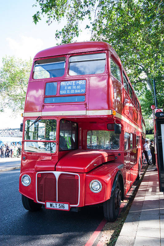 Dawn Oconnor Dawnoconnorphotos@gmail.com Art Print featuring the photograph Red London Bus by Dawn OConnor