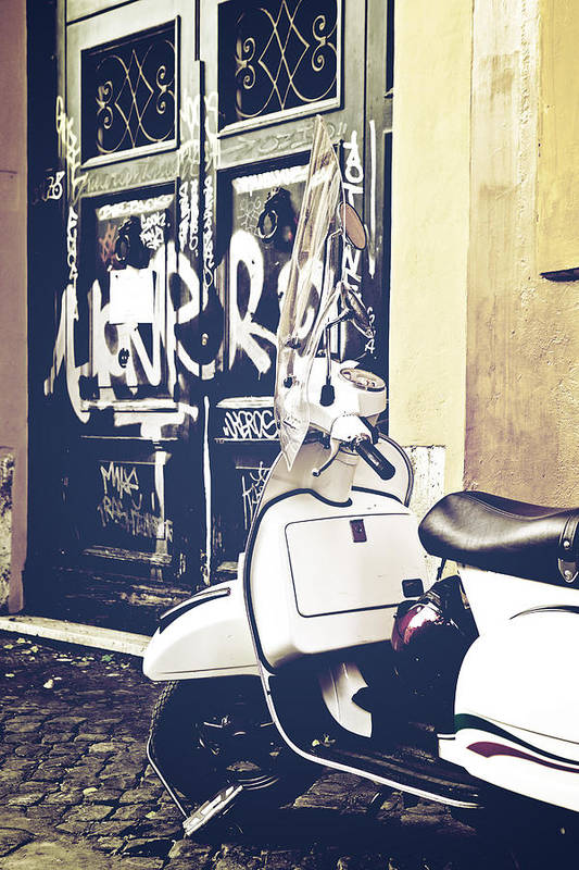 Rome Art Print featuring the photograph Scooter by Joana Kruse