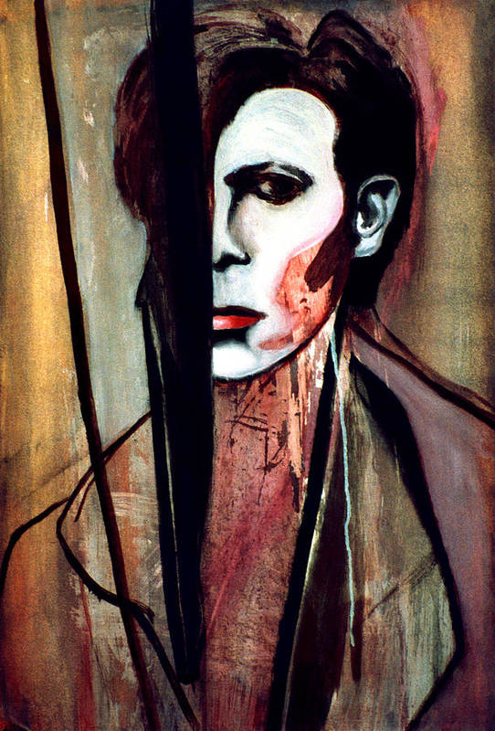 Bowie Art Print featuring the painting V2-bowie by Fabrice Plas