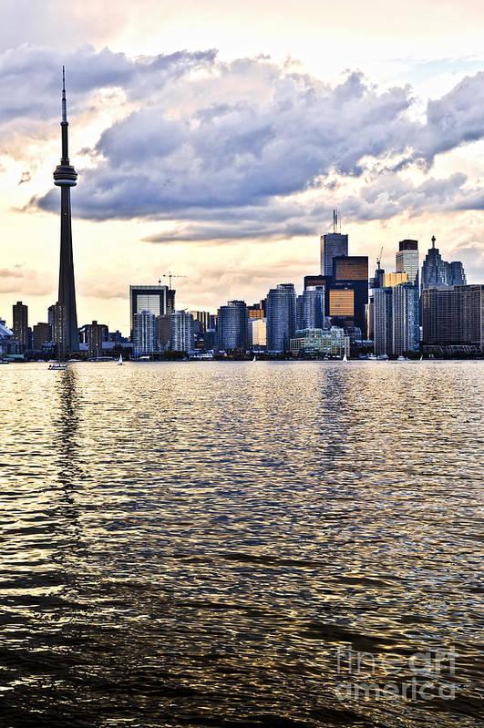 Toronto Art Print featuring the photograph Toronto Skyline by Elena Elisseeva