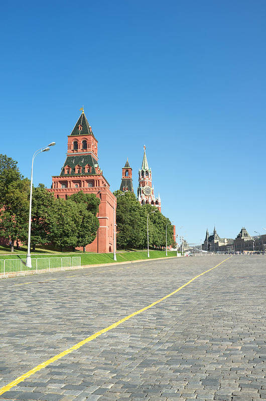 Moscow Art Print featuring the photograph Moscow Kremlin by Igor Sinitsyn