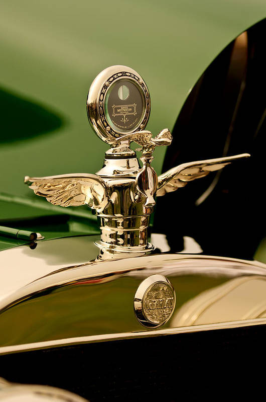 1919 Mcfarlan Type 125 Touring Art Print featuring the photograph 1919 Mcfarlan Type 125 Touring Motometer - Hood Ornament by Jill Reger