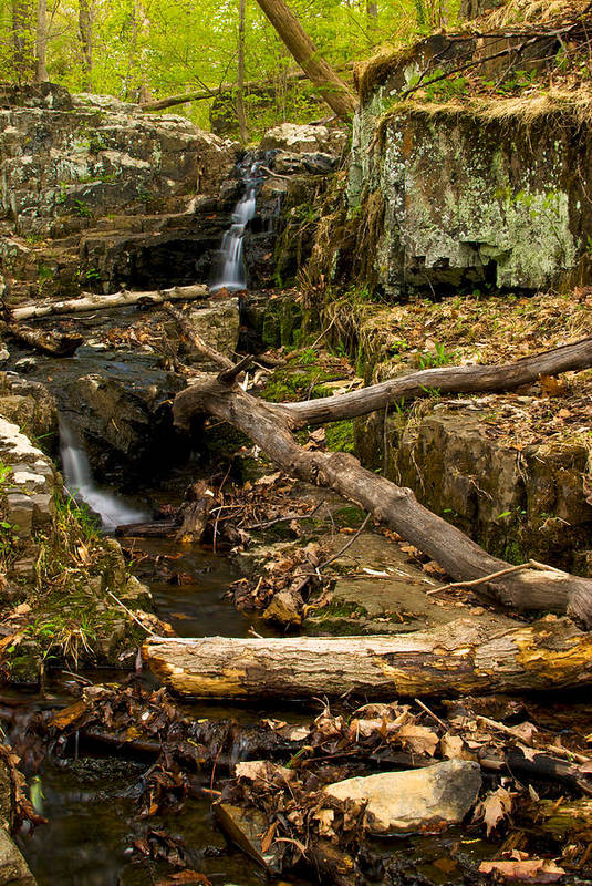 Buttermilk Art Print featuring the photograph Buttermilk Falls by Mike Horvath