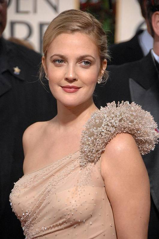 Drew Barrymore Art Print featuring the photograph Drew Barrymore Wearing An Atelier by Everett