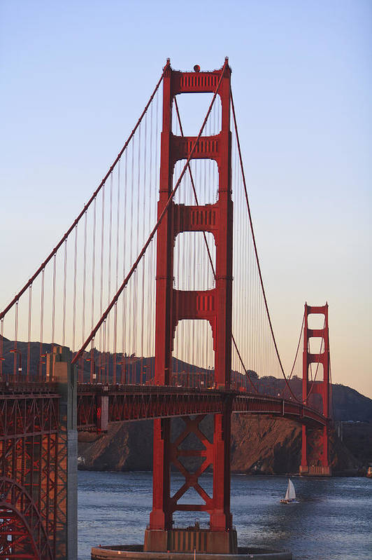 Blue Sky Art Print featuring the photograph Golden Gate Bridge San Francisco by Stuart Westmorland
