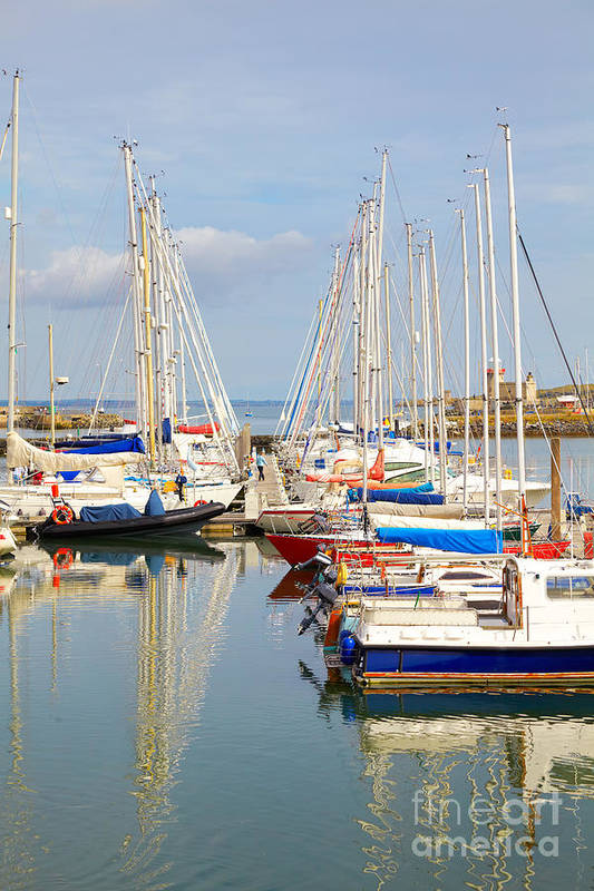 Harbor Art Print featuring the photograph Howth Harbour by Gabriela Insuratelu