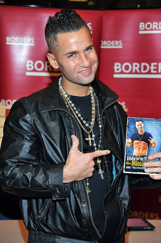 Mike ''the Situation'' Sorrentino Print featuring the photograph Mike The Situation Sorrentino by Everett