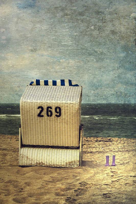 Beach Chair Art Print featuring the photograph Beach Chair by Joana Kruse