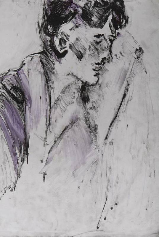 Fine Art Art Print featuring the drawing Untitled by Iris Gill