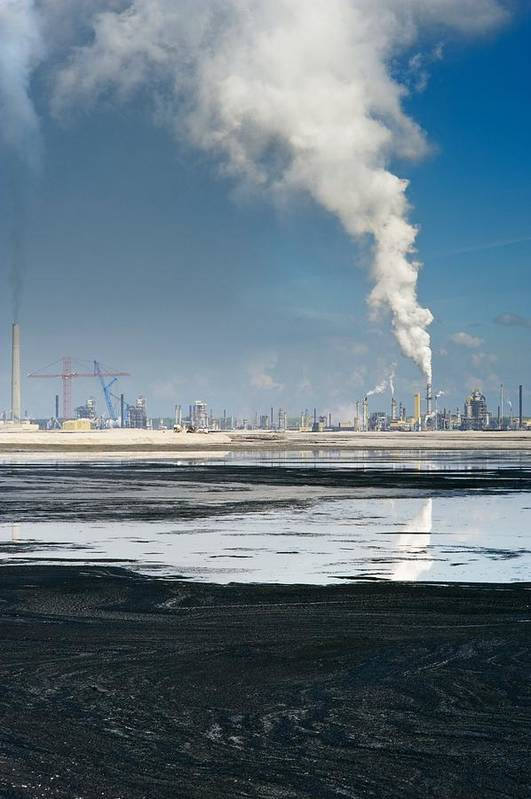 Pollution Art Print featuring the photograph Oil Industry Pollution by David Nunuk