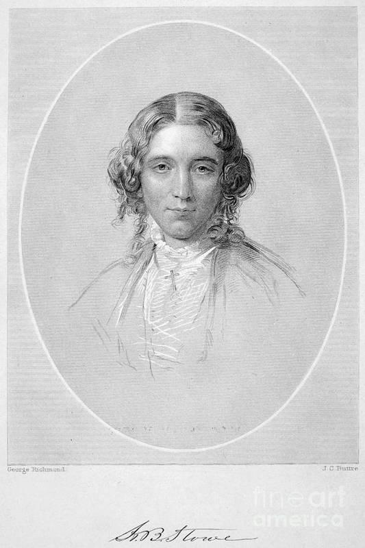 19th Century Art Print featuring the photograph Harriet Beecher Stowe by Granger