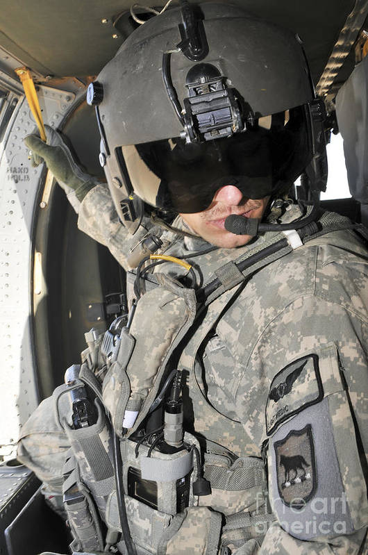 Iraq Print featuring the photograph A Flight Medic Conducts A Daily by Stocktrek Images
