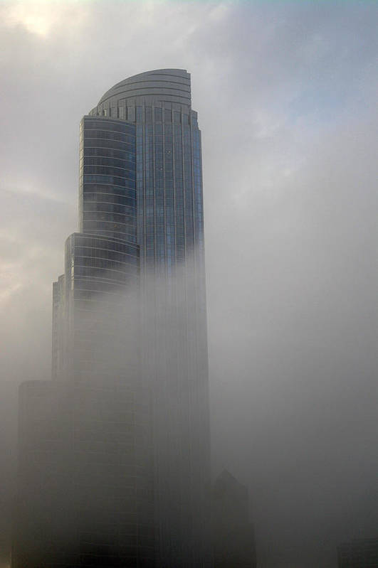 Chicago Illinois Art Print featuring the photograph A Foggy Condo On L S D by David Bearden