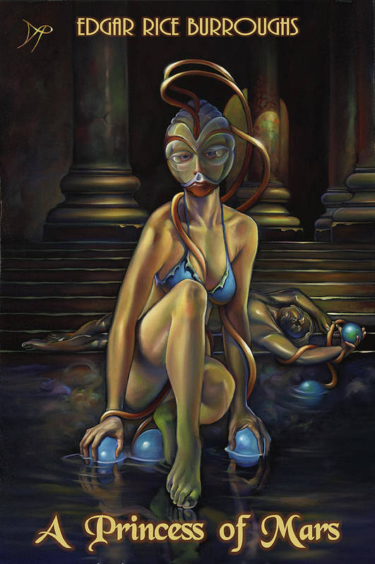 John Carter Art Print featuring the painting A Princess Of Mars by Patrick Anthony Pierson