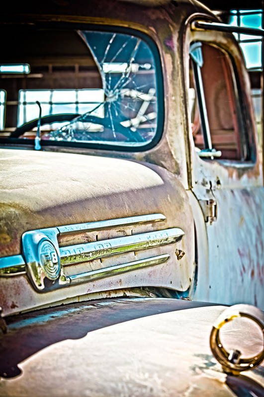 Truck Art Print featuring the photograph Abandoned Red Truck by Michael Yeager