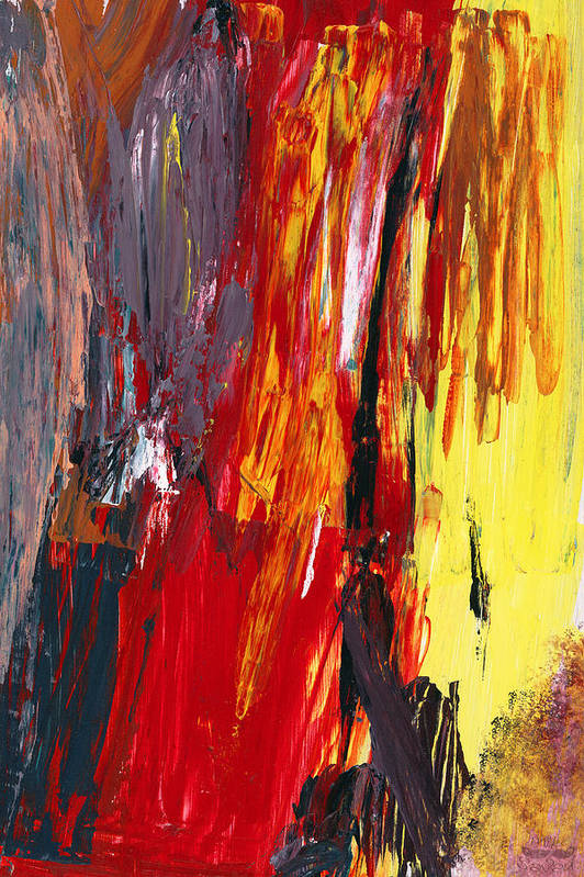 Abstract Art Print featuring the photograph Abstract - Acrylic - Rising Power by Mike Savad