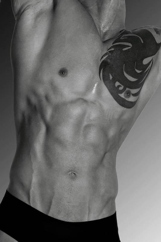 Body Art Print featuring the photograph Adam 4 by Mark Ashkenazi