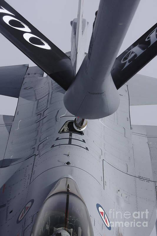Transportation Art Print featuring the photograph Air Refueling A Norwegian Air Force by Daniel Karlsson