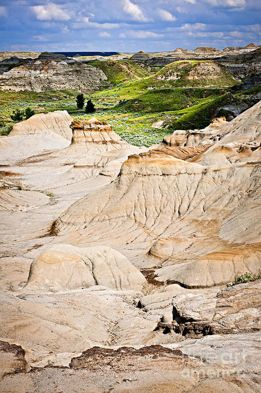 Badlands Art Print featuring the photograph Badlands In Alberta by Elena Elisseeva