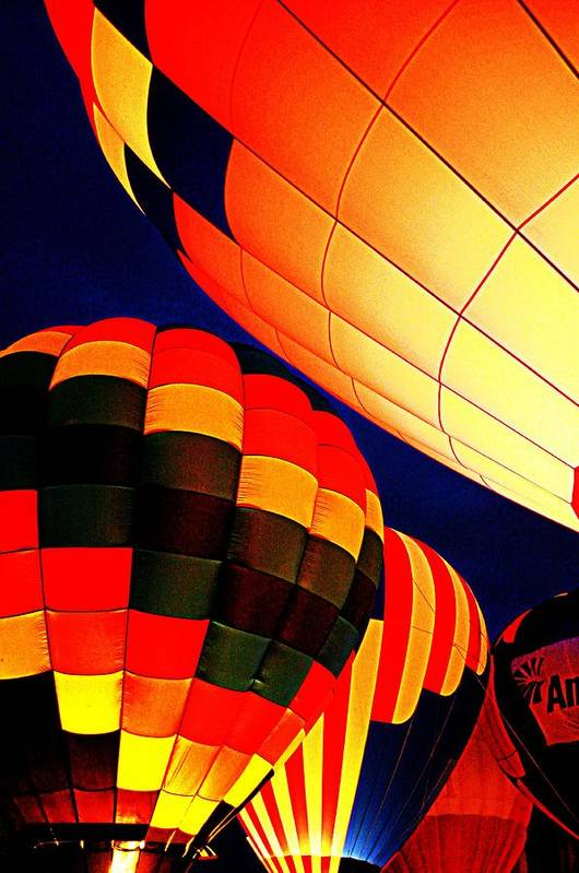 Hot Air Baloon Art Print featuring the photograph Balloon Glow 1 by Marty Koch