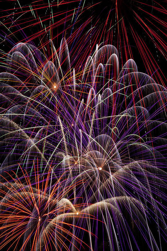 Fireworks 4th Of July Art Print featuring the photograph Beautiful Fireworks by Garry Gay