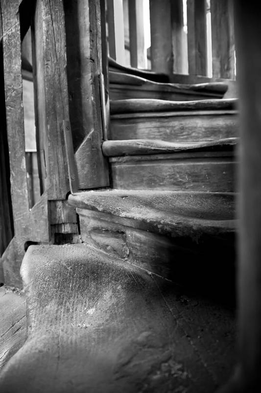 Antiquity Art Print featuring the photograph Bell Tower Steps1 by John Bartosik