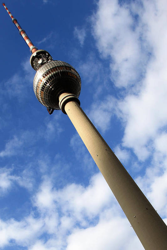 Berlin Art Print featuring the photograph Berlin Television Tower Picture by Falko Follert