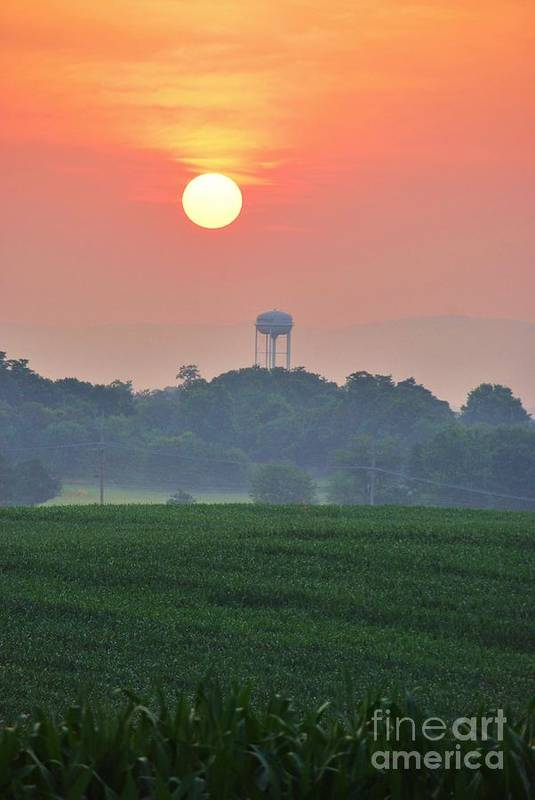 Art Print featuring the photograph Berryville Sunrise by TSC Photography Timothy Cuffe Jr