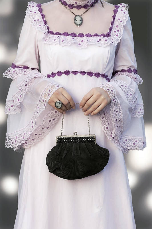 Woman Art Print featuring the photograph Black Handbag by Joana Kruse