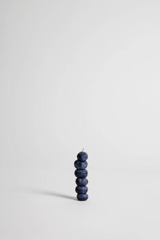 Vertical Print featuring the photograph Blueberries Arranged Into A Stack, Studio Shot by Halfdark