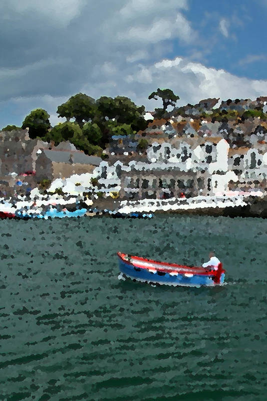 Boat Art Print featuring the photograph Boat At Brixham by Chris Davis