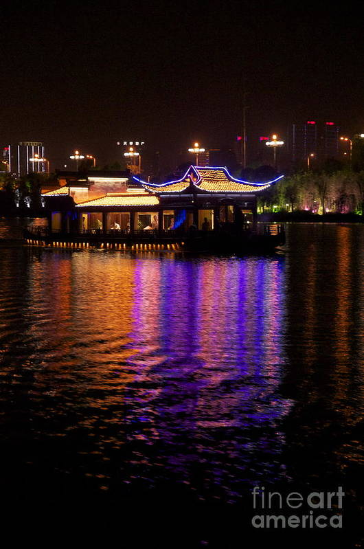 Guilin Art Print featuring the photograph Boat Cruise On Guilin River by Sean Stauffer