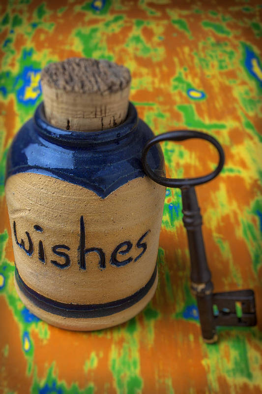Jar Art Print featuring the photograph Bottle Of Wishes by Garry Gay