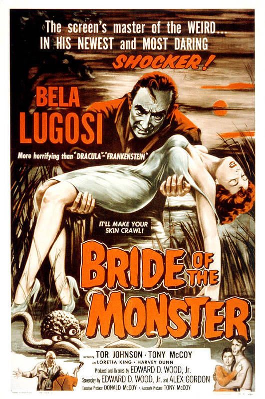 1950s Poster Art Art Print featuring the photograph Bride Of The Monster, Bela Lugosi, 1955 by Everett