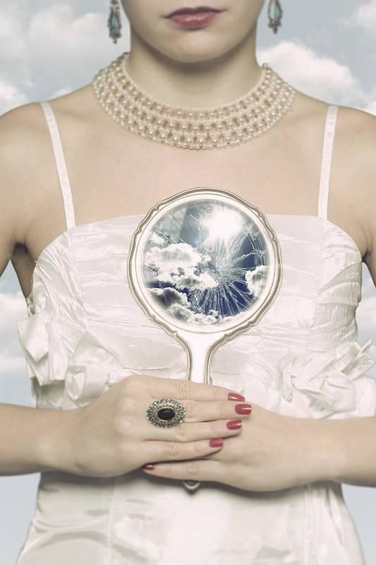 Female Art Print featuring the photograph Broken Handmirror by Joana Kruse