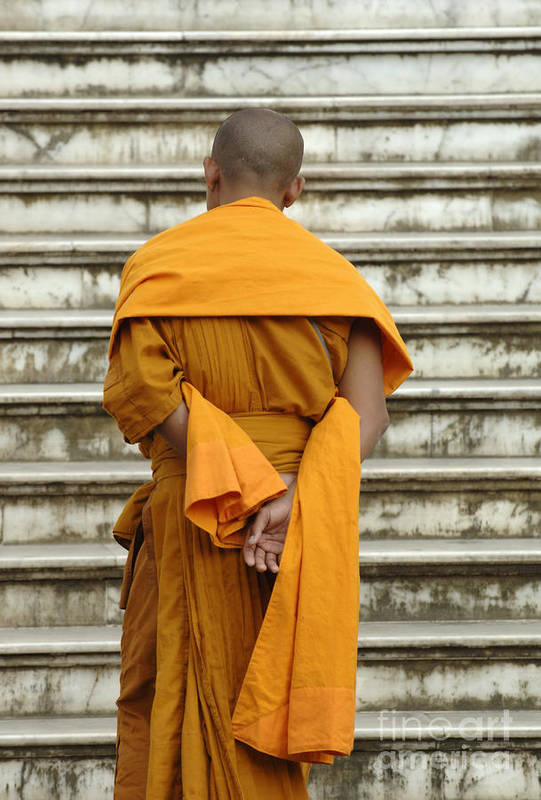 Laos Art Print featuring the photograph Buddhist Monk 2 by Bob Christopher