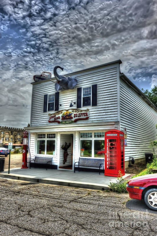 Business Art Print featuring the photograph Business In Moundsville Wv by Dan Friend