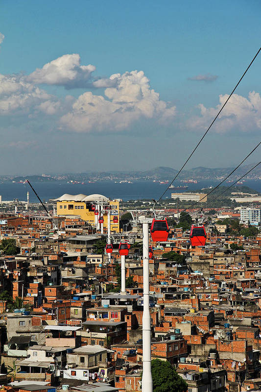Vertical Art Print featuring the photograph Cable Car Complex by Ruy Barbosa Pinto
