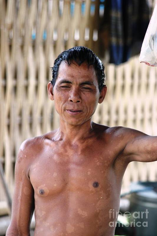 Man Art Print featuring the photograph Cambodian Dignity by Nola Lee Kelsey