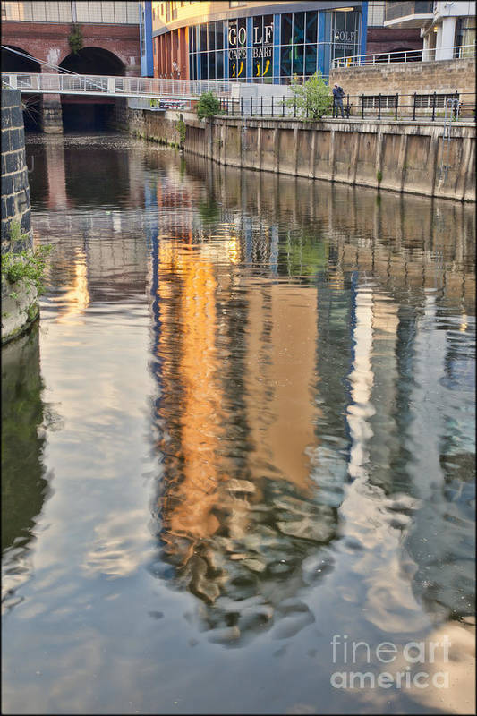 Reflections Art Print featuring the photograph Canal Palette by George Hodlin