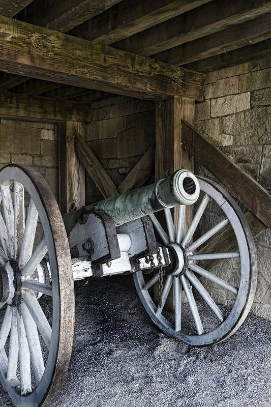 Old Fort Niagara Art Print featuring the photograph Cannon Storage by Peter Chilelli