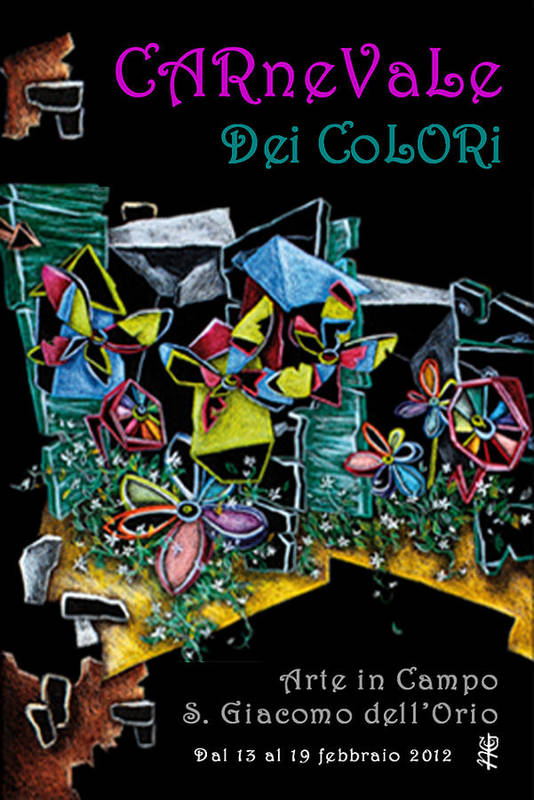 Spritz Print featuring the painting Carnevale Dei Colori - Venezia by Arte Venezia
