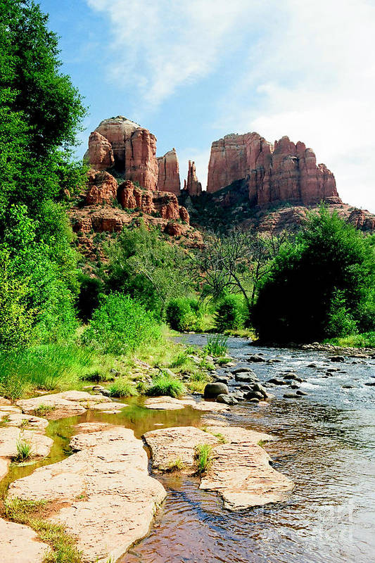 Sedona Art Print featuring the photograph Cathedral Rock by Frank Townsley