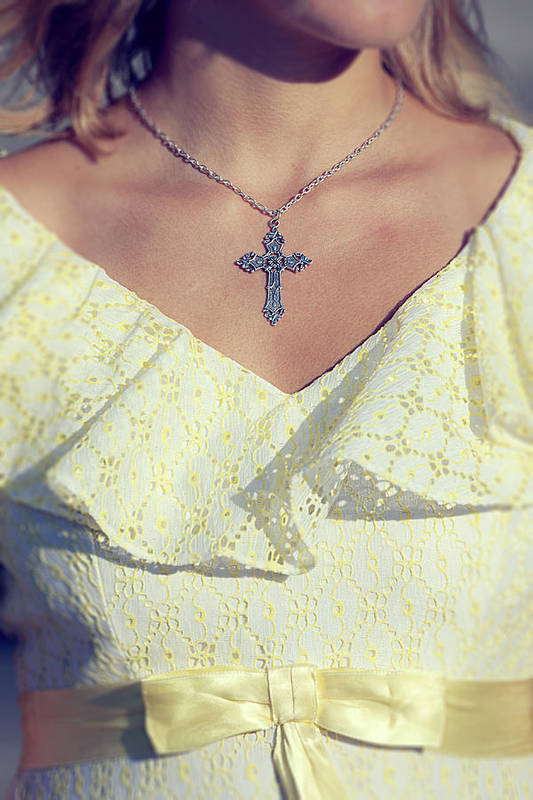 Woman Art Print featuring the photograph Celctic Cross by Joana Kruse