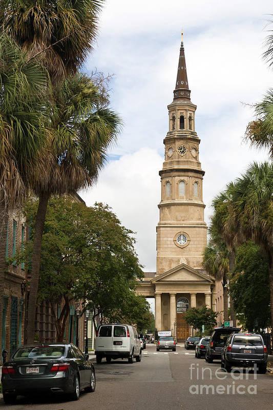 Charleston Art Print featuring the photograph Charleston Church by Steve Nelson