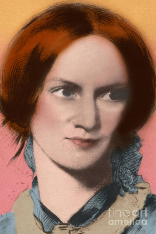 Author Art Print featuring the photograph Charlotte Bronte, English Author by Science Source
