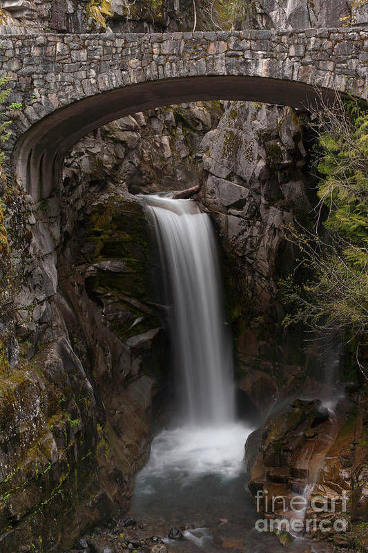 Christine Falls Art Print featuring the photograph Christine Falls Serenity by Mike Reid